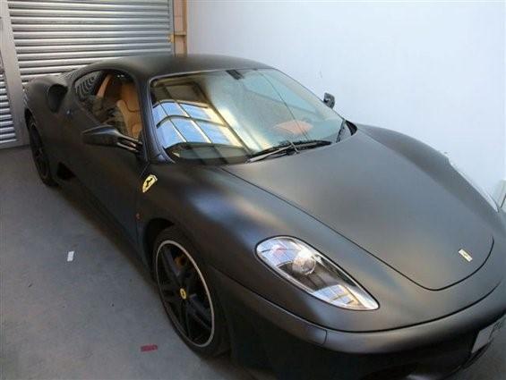 matt black ferrari f430 - creative fx