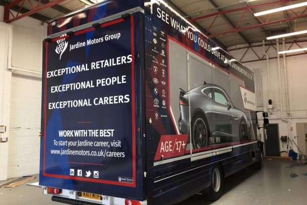 Jardine Motors Lorry Wrap 2