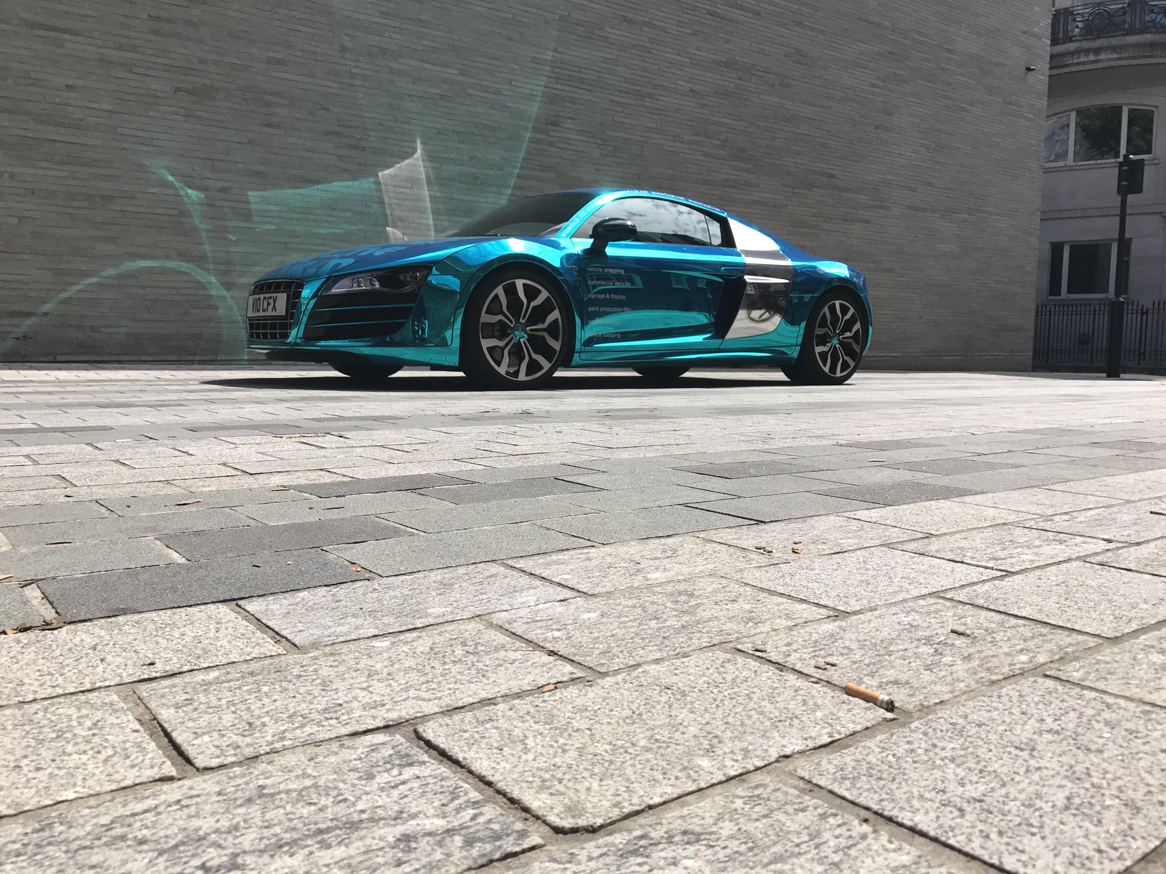 Audi R8 V10 Wrapped In Chrome By Cfx London