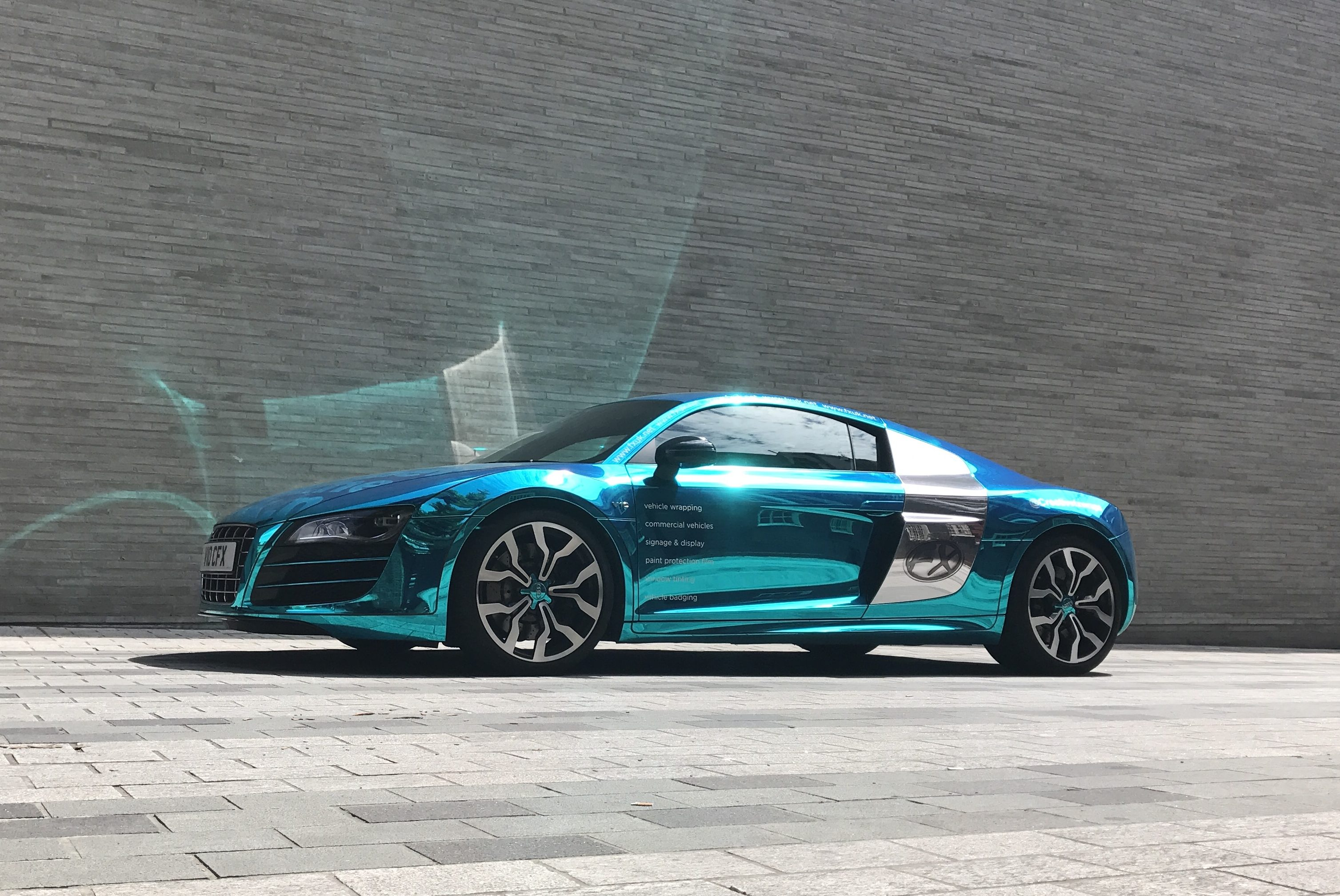 Audi R V Wrapped In Chrome By CFX London - Audi car commercial