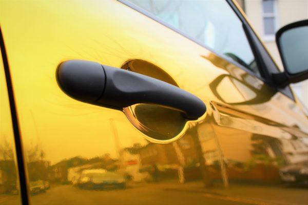 SMART CAR FULL CHROME WRAP 4