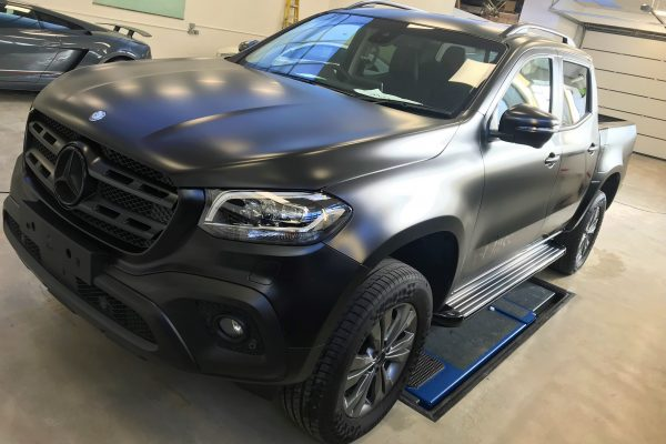 Satin Black X-class Wrap By Creative Fx Wraps In London