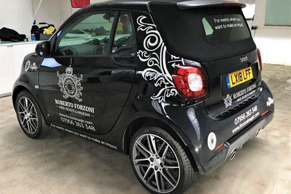 Roberto Forzini Magic, Sign Written Car By Creative Fx In Bromley London Kent Southeast Orpington 1