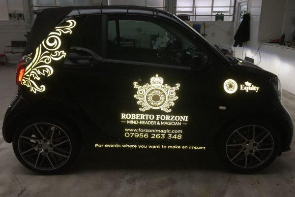 Roberto Forzini Magic, Sign Written Car By Creative Fx In Bromley London Kent Southeast Orpington2