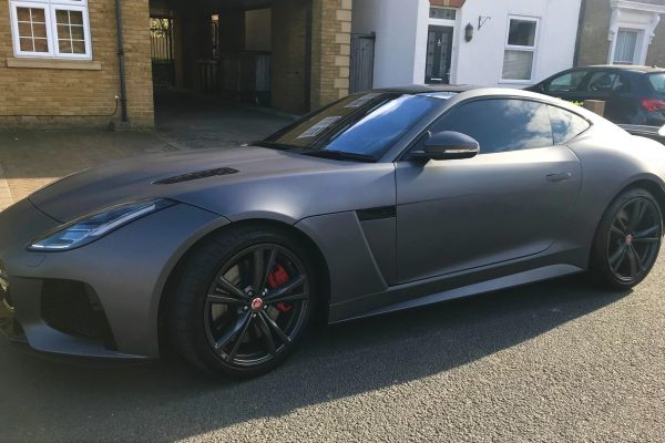 F Type Jaguar Sating Grey Wrap By Creative Fx In Bromley 2