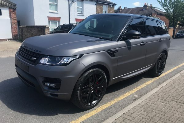 Range Rover Matte Charcoal Wrap By Creative Fx In Bromley 3