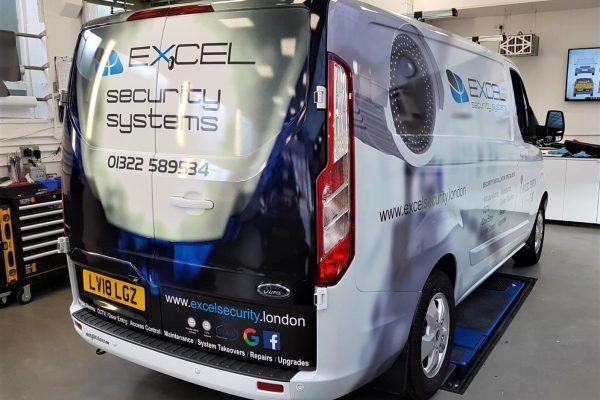 Excel Security Van Wrap By Creative Fx In Bromley 1