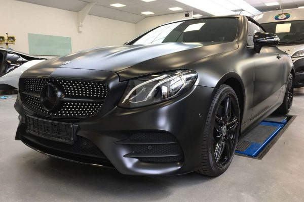 Mercedes Satin Black Wrap By Creative Fx In London 1