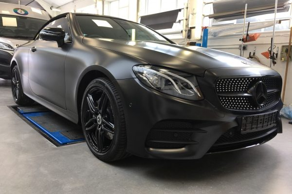 Mercedes Satin Black Wrap By Creative Fx In London 2