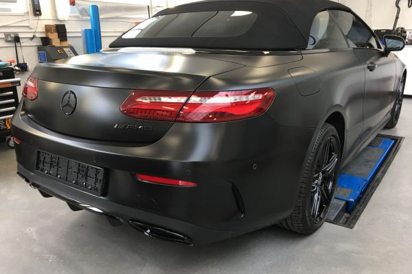 Mercedes Satin Black Wrap By Creative Fx In London 4