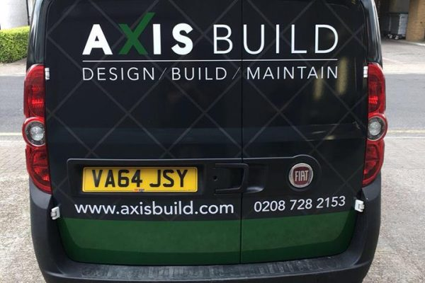 Axis Build Van Wrap By South East London Creative Fx 1