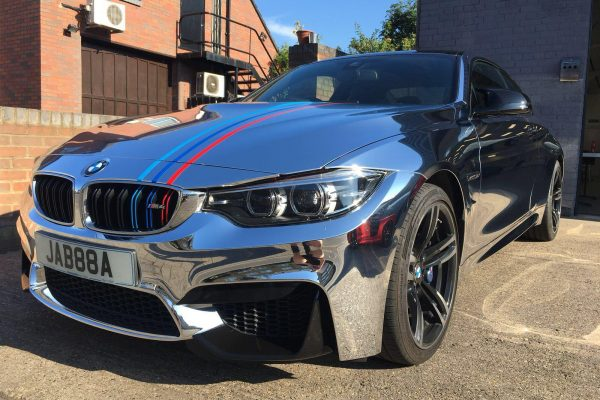 Bmw Chrome Wrap Gumball Ralley 1
