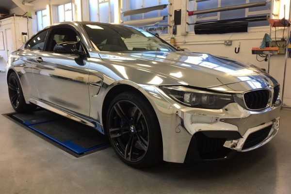 Bmw Chrome Wrap Gumball Ralley 3