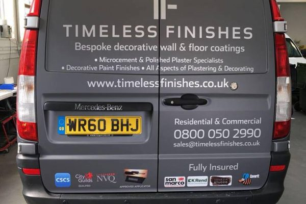 Timeless Finishes By Creative Fx Van Wraps In Bromley 2