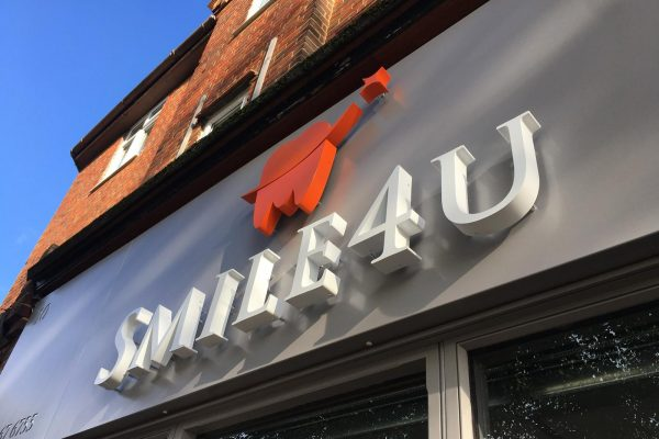 SMILE4U New Fascia By Creative Fx Signage In Bromley 2