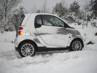 CHROME SMART CAR WRAP