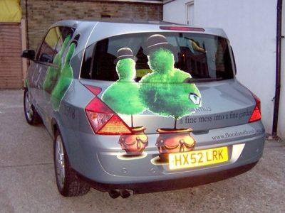 FLORAL & HARDY CAR WRAP