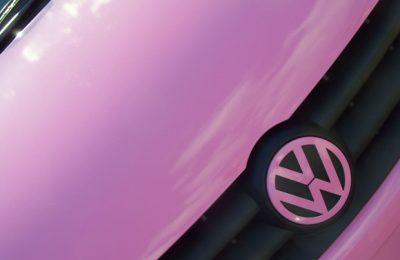 Pink Volkswagen Fox