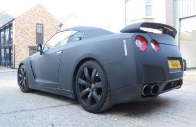VELVET BLACK NISSAN GT-R WRAP