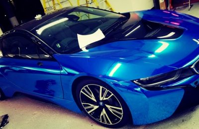 BMW I8 CHROME WRAP