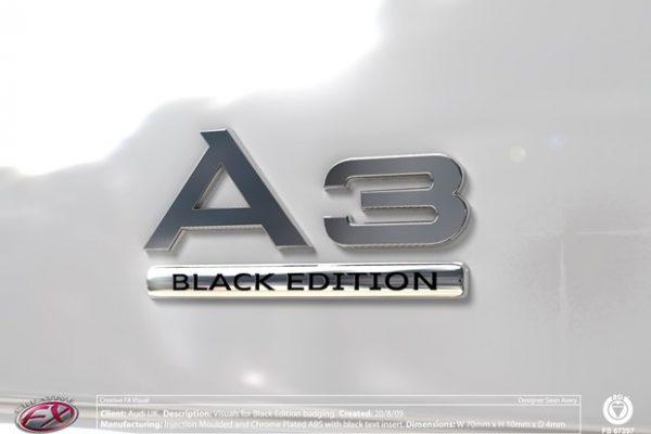 Audi Black Ed Blank Wht AF