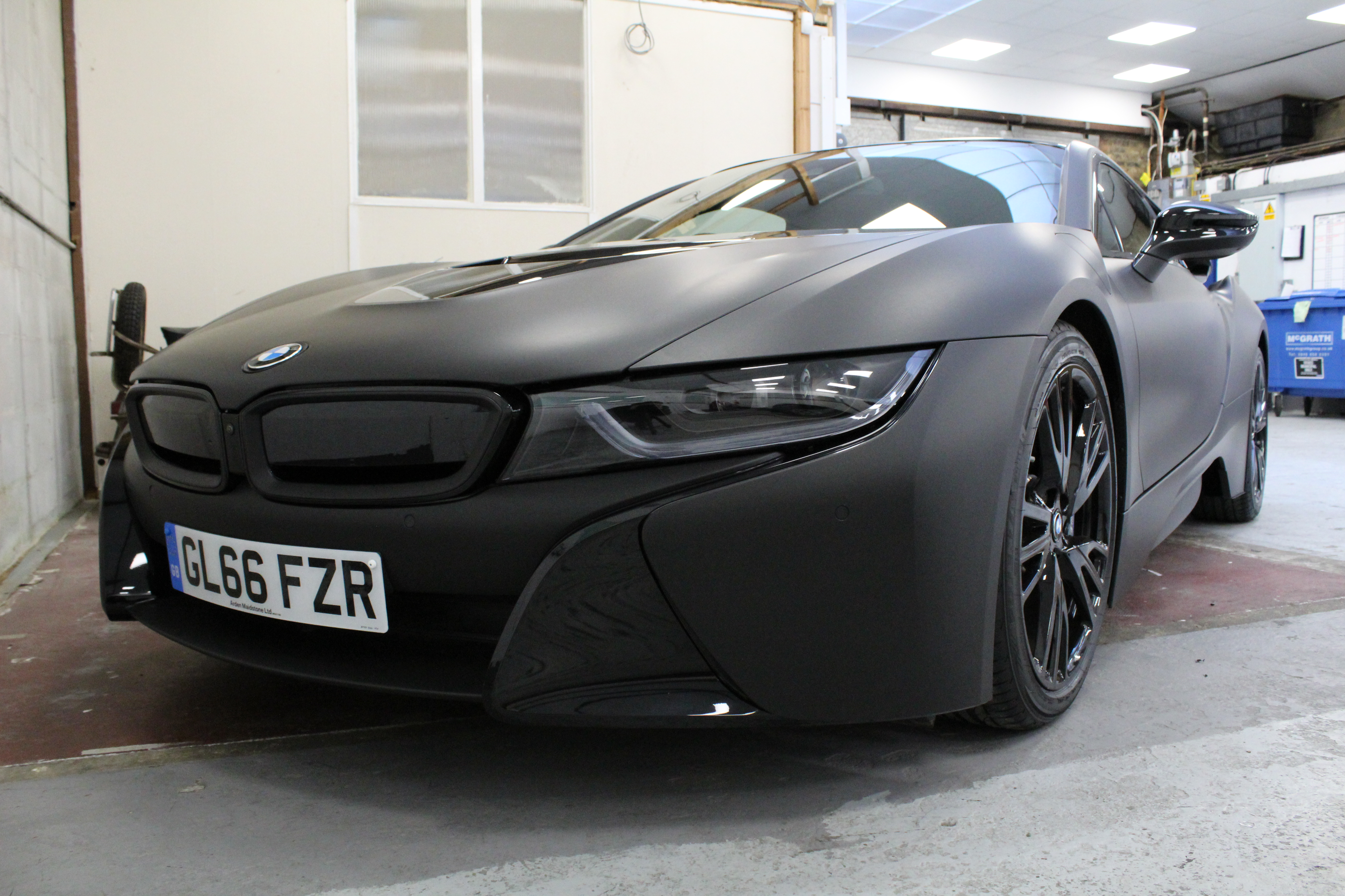 Matte Black Bmw >> Bmw I8 Black Matte Wrap London