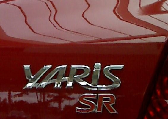 Toyota Yaris SR Badge