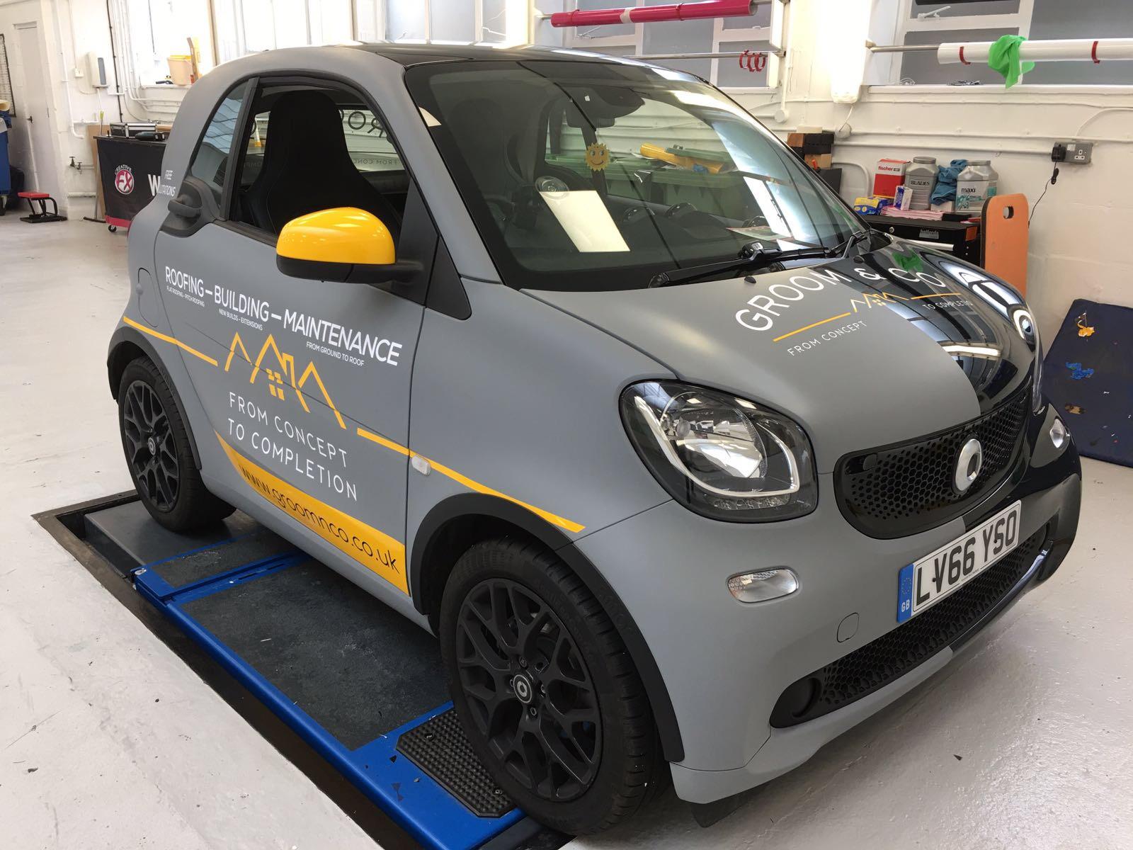 Matte Grey Car >> SMART CAR - Creative FX