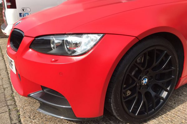 BMW M3 MATTE RED VEHICLE WRAPPING 1