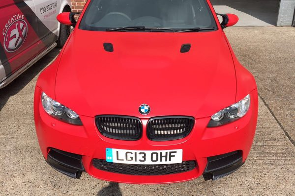 BMW M3 MATTE RED VEHICLE WRAPPING 3
