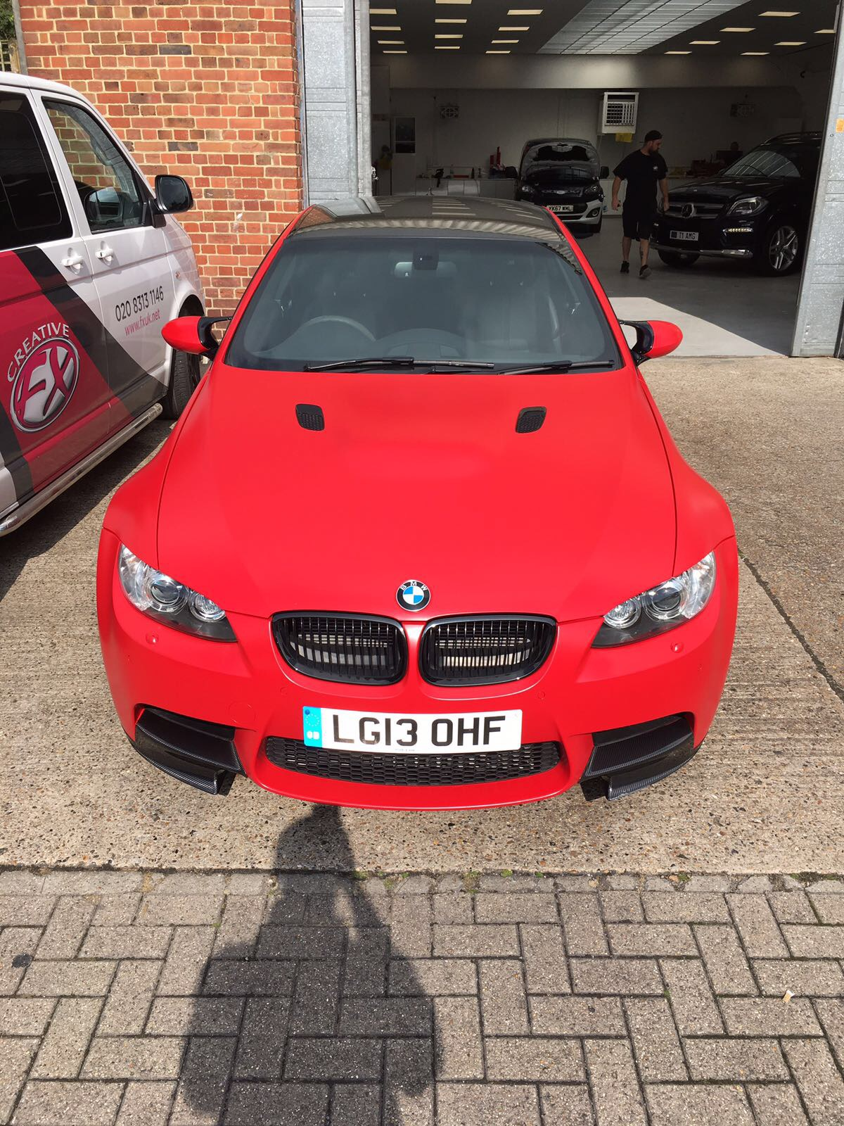 Bmw M3 Red Matte Wrap London