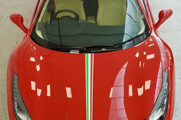 Ferrari 488 Spider Paint Protection Film Wrap 1