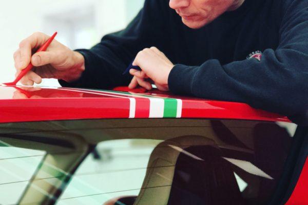 Ferrari 488 Spider Paint Protection Film Wrap 3