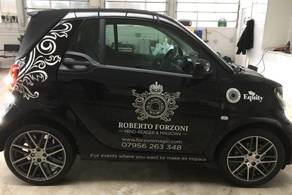 Roberto Forzini Magic, Sign Written Car By Creative Fx In Bromley London Kent Southeast Orpington 3