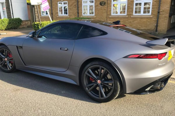 F Type Jaguar Sating Grey Wrap By Creative Fx In Bromley 1