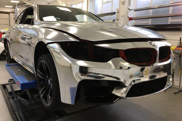 Bmw Chrome Wrap Gumball Ralley 5