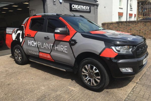 HCH PLANT HIRE VAN WRAP BY CREATIVE FX 2