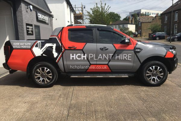 HCH PLANT HIRE VAN WRAP BY CREATIVE FX 3