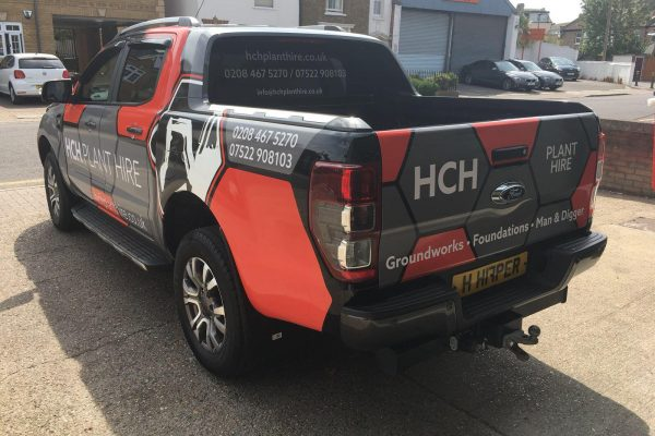 HCH PLANT HIRE VAN WRAP BY CREATIVE FX 4