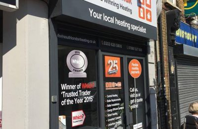 PRINTED FASCIA – SOUTH LONDON HEATING