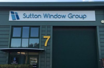 POWDER COATED LETTER SIGNAGE – SUTTON WINDOW GROUP