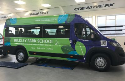 FULL BUS WRAP – BICKLEY PARK SCHOOL