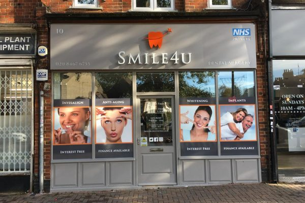 SMILE4U New Fascia By Creative Fx Signage In Bromley 1