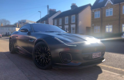 SATIN BLACK FULL WRAP – JAGUAR F TYPE 400 SPORT
