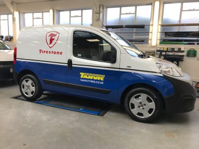 COMMERCIAL LIVERY AND PARTIAL WRAP – FIRESTONE