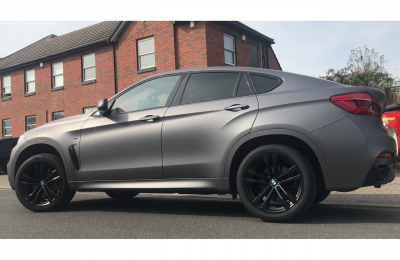 FULL SATIN GREY WRAP – BMW X6
