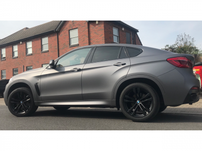 FULL SATIN GREY WRAP – BMW X6