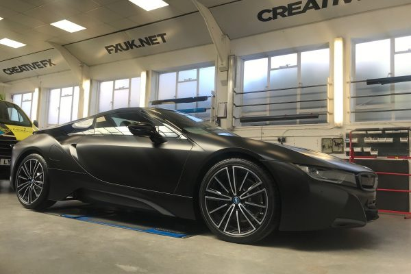 BMW I8 Matte Black Wrap 2