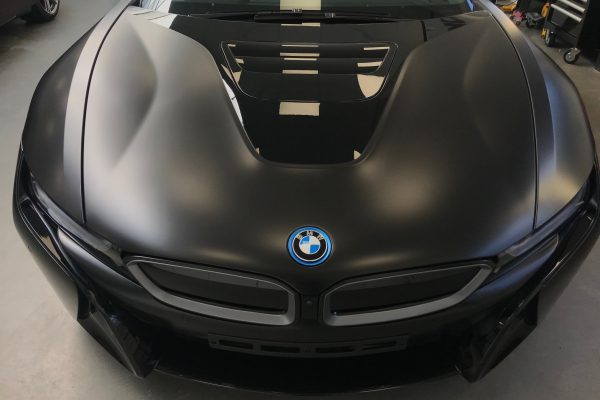 BMW I8 Matte Black Wrap 3