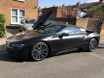 SATIN BLACK WRAP – BMW I8